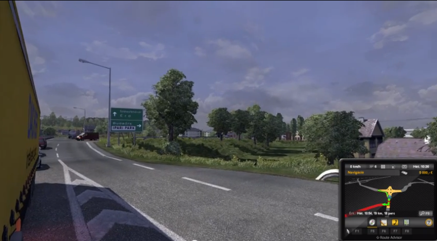 This is the only one map of hungary for euro truck simulator 2 with
